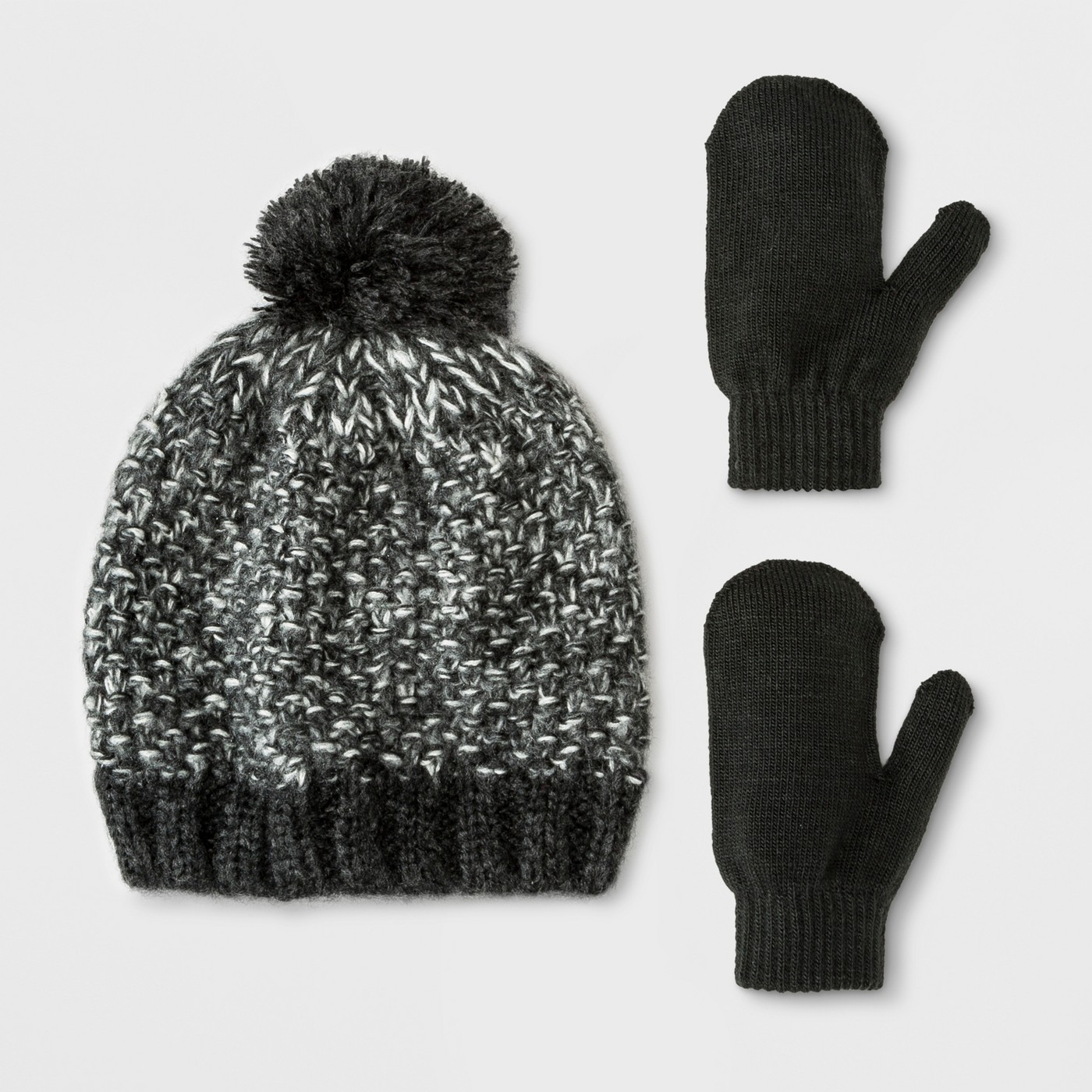 Target Toddler Boys' Beanie and Mitten Set – Cat & Jack™ Black $9.99