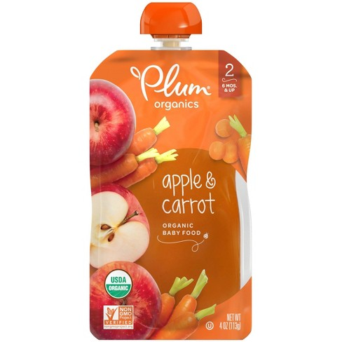 Plum Organics Baby Food Stage 2 Apple and Carrot 4oz - image 1 of 4
