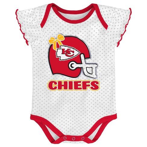new concept 08cea 030ee NFL Kansas City Chiefs Baby Girls' Newest Fan 3pk Bodysuit Set - 3-6M