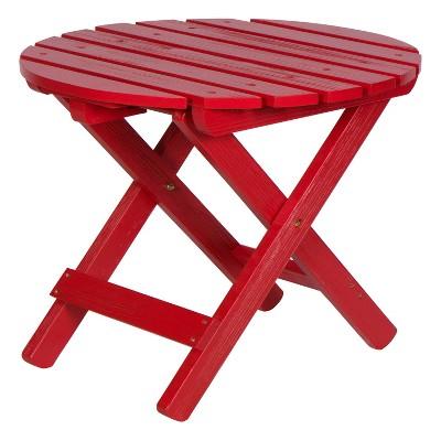 Adirondack Round Folding Table with HYDRO-TEX™ finish - Shine Company Inc.