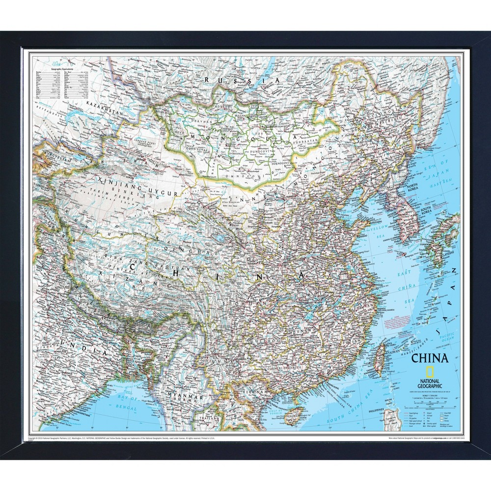 Image of National Geographic Magnetic Travel Map - China Classic