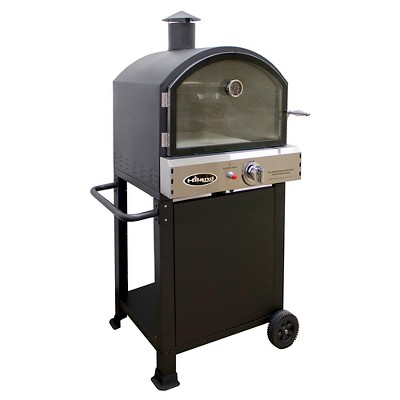AZ Patio Heaters® Propane Pizza Oven Trolly   Matte Black