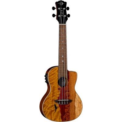 Luna Guitars Vista Eagle Tropical Wood Concert Acoustic-Electric Ukulele Gloss Natural