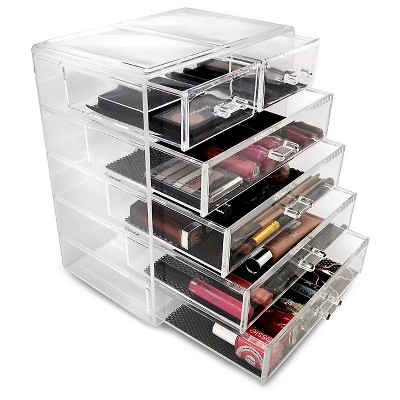 Sorbus Cosmetic Makeup and Jewelry Storage Case Display (4 Large/2 Small Drawers)