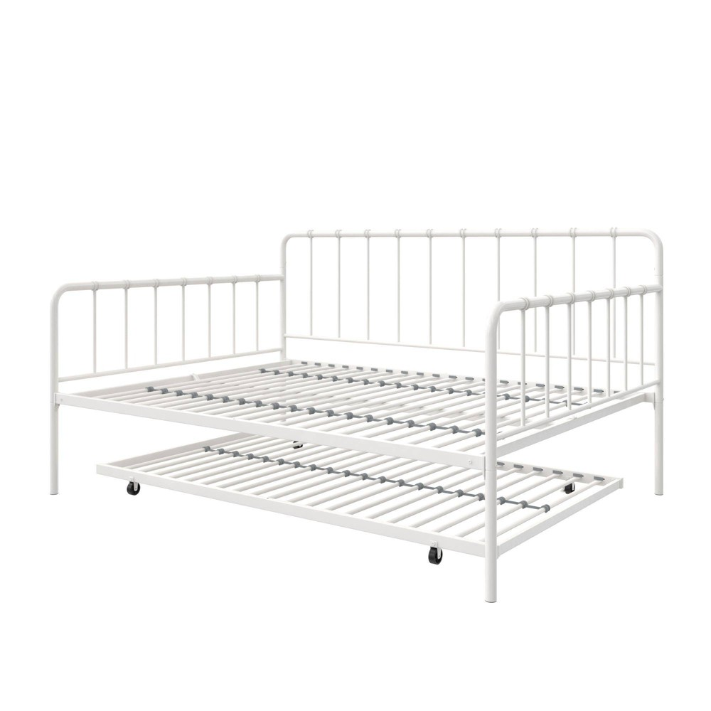 Avery Metal Full Daybed and Twin Trundle White - Room & Joy
