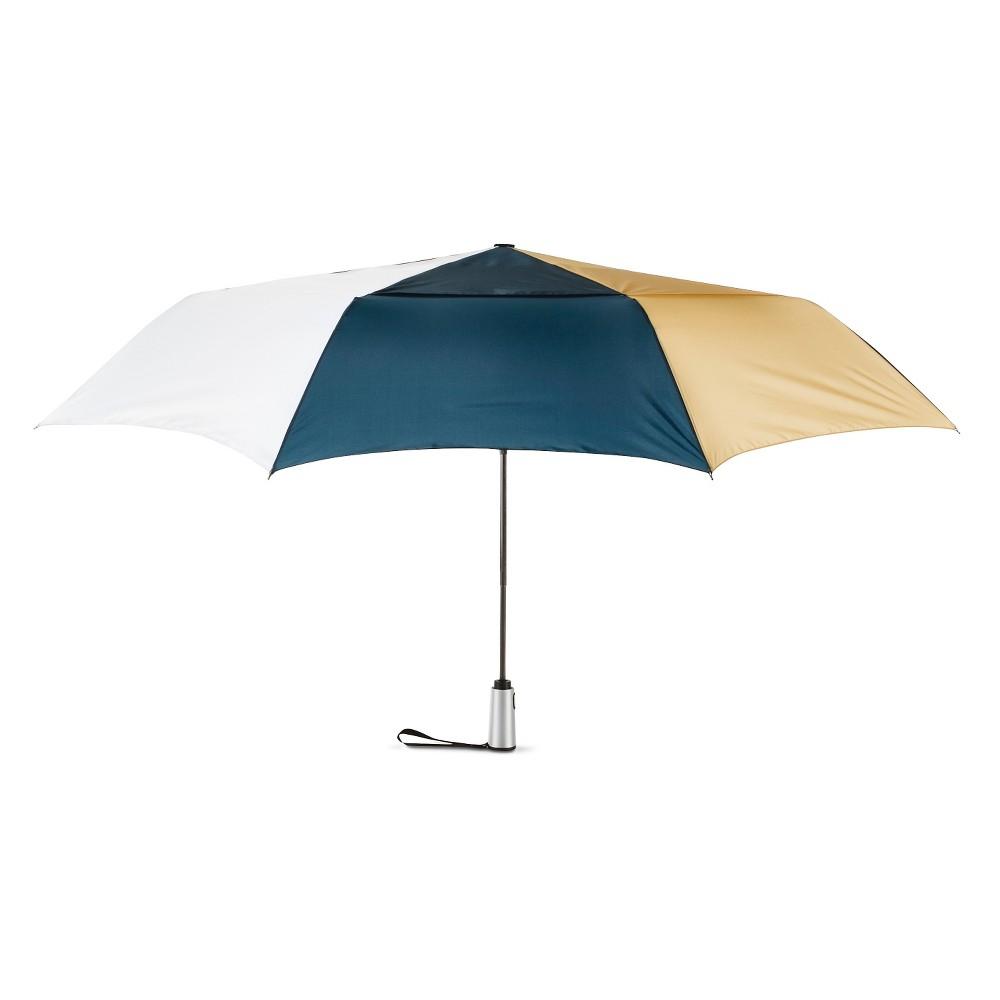 ShedRain Auto Open/Close Air Vent Compact Umbrella - Navy, Multi-Colored