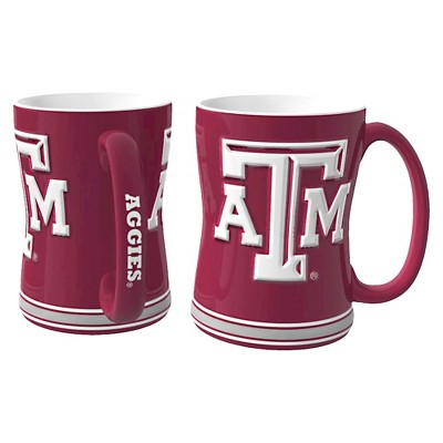 Texas A&M Aggies Boelter Brands 2 Pack Sculpted Relief Style Coffee Mug - Maroon/ White (15 oz)
