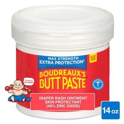 Boudreaux's Butt Paste Baby Diaper Rash Cream Maximum Strength - 14oz