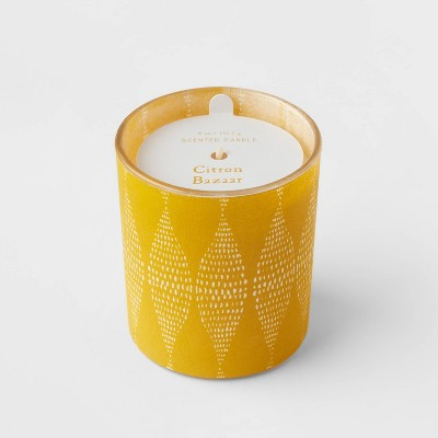 5oz Global Paper Wrapped Glass Citron Bazaar Candle - Opalhouse™