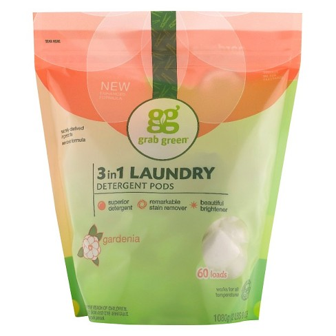 Grab Green Gardenia 3 in 1 Laundry Detergent Pods - 36 oz - image 1 of 1