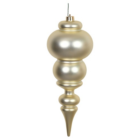 "14"" Gold Matte Finial Drilled Christmas Ornament - image 1 of 1"