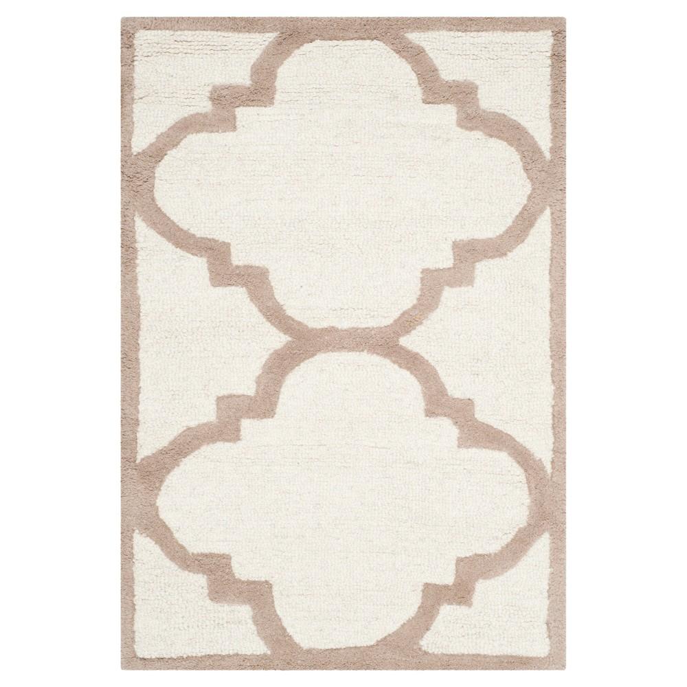 Landon Texture Wool Rug - Ivory / Beige (2'6 X 4') - Safavieh, Ivory/Beige