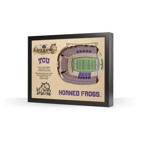 NCAA TCU Horned Frogs 25 Layer Stadiumviews 3D Wall Art - image 1 of 4