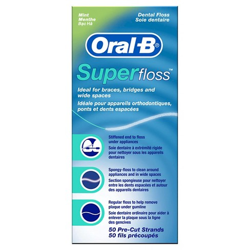 Oral-B Mint Super Floss Pre-Cut Strands - 50ct - image 1 of 3