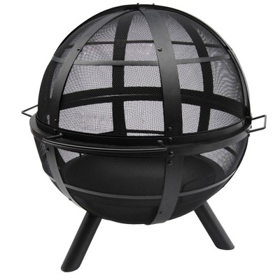 "32.75"" Ball O' Fire Wood Burning Fire Pit - Black - Landmann"