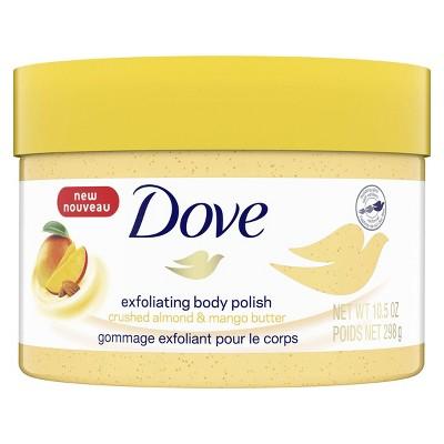 Dove Crushed Almond Mango Butter Exfoliating Body Polish Scrub 10 5 Fl Oz Target