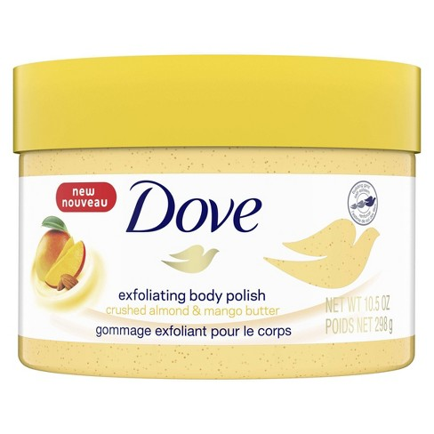 Dove Crushed Almond Mango Butter Exfoliating Body Polish Scrub