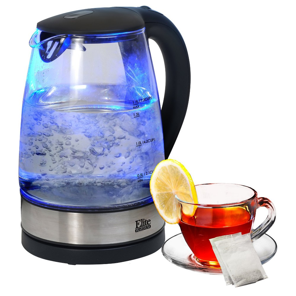 Elite Platinum 1.7 L. Cordless Glass Kettle, Clear 47854900