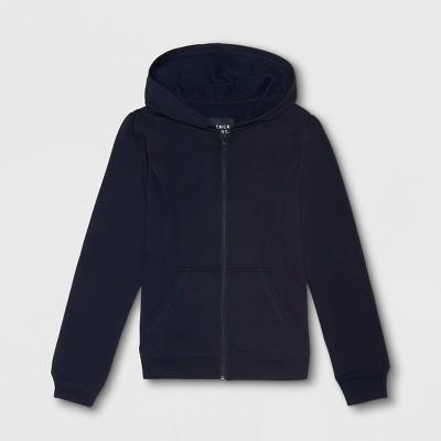 French Toast Girls' Uniform Fleece Jacket - Navy
