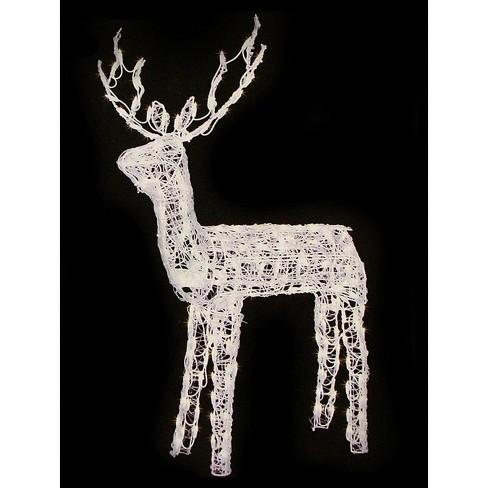 Lb International 48 Animated Crystal 3 D Standing Reindeer Lighted