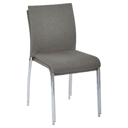 Brilliant 2Pk Conway Stacking Chair Smoke Osp Home Furnishings Dailytribune Chair Design For Home Dailytribuneorg