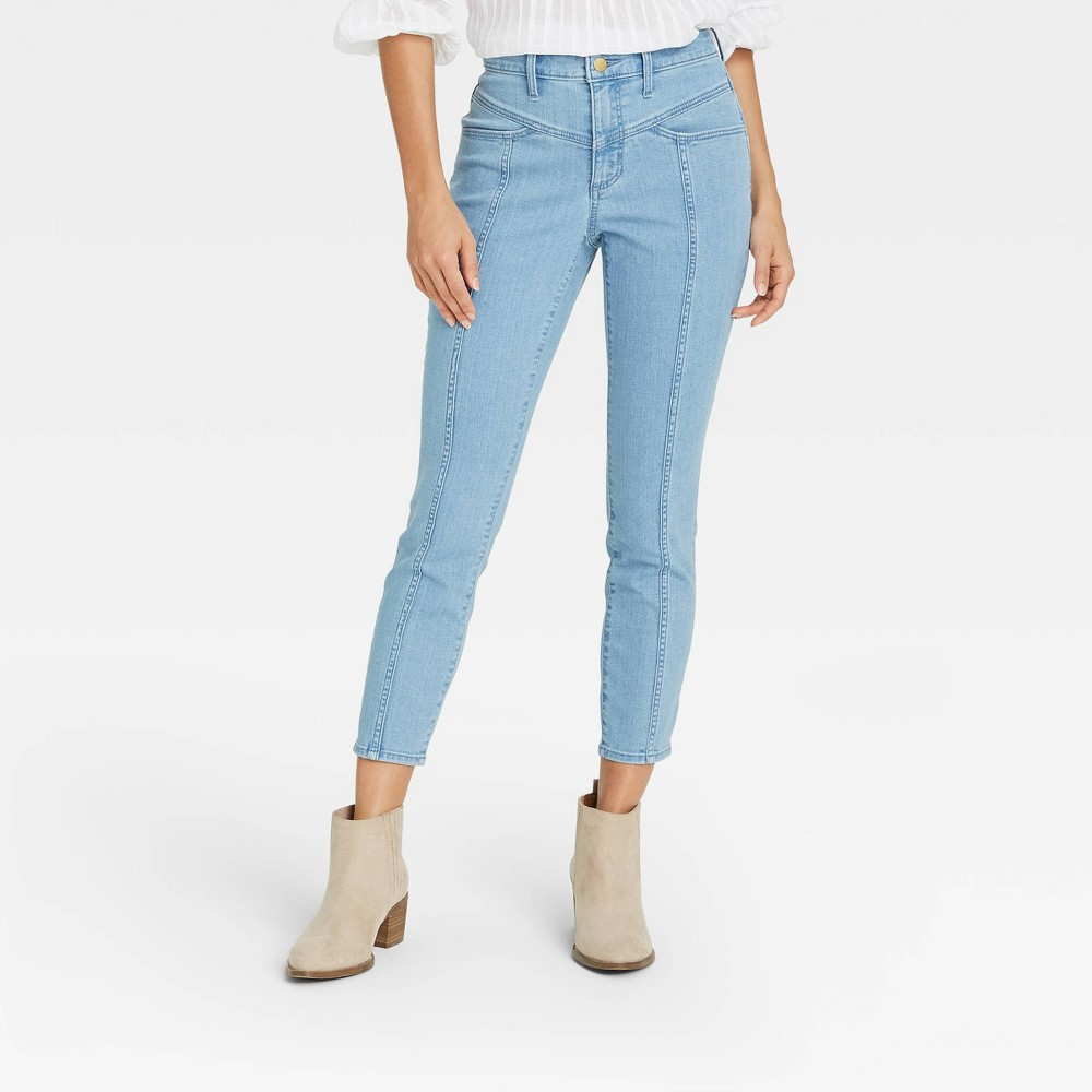 Women 39 S High Rise Skinny Cropped Jeans Universal Thread 8482 Light Wash 16