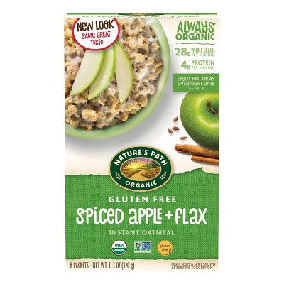 Nature's Path Organic Gluten Free Oatmeal  Spiced Apple with Flax - 11.3oz
