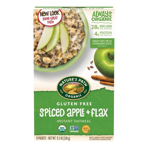 Nature's Path Organic Gluten Free Oatmeal  Spiced Apple with Flax - 11.3oz - image 1 of 4