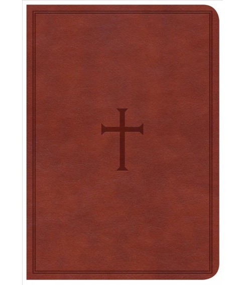 Holy Bible : Christian Standard Bible, Reference Bible, Brown Leathertouch, Large Print, Compact - image 1 of 1