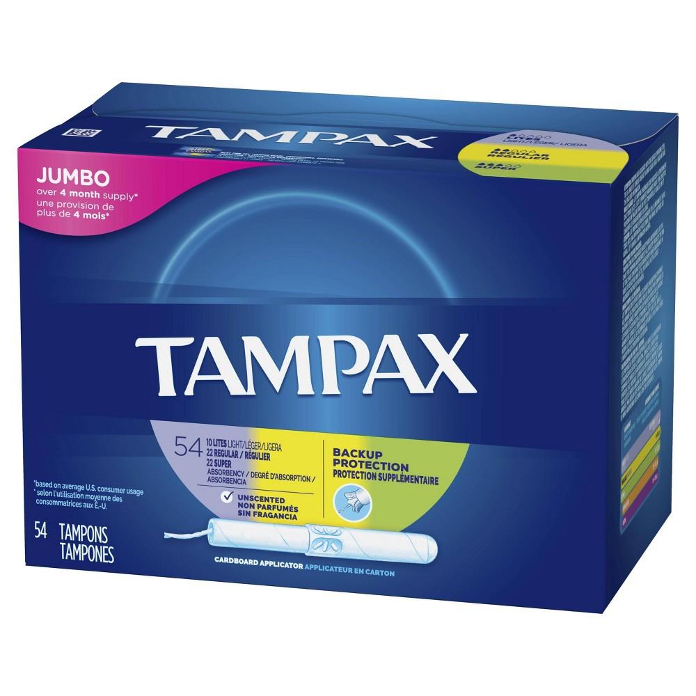 Tampax Multi-Pack Tampons - Cardboard - 54ct
