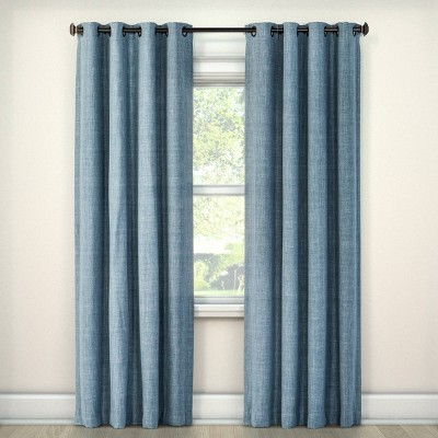 "Rowland Blackout Curtain Panel Blue (52"" X 63"")- Eclipse"
