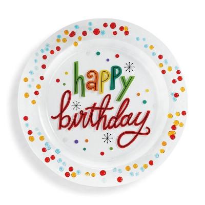 DEMDACO Happy Birthday Confetti Platter 14 x 14 - Multi