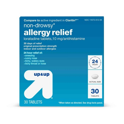 Loratadine Allergy Relief Tablets - 30ct - Up&Up™ - image 1 of 4