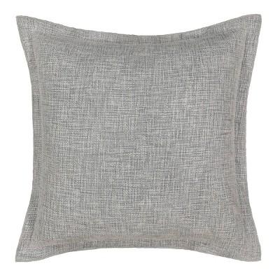 "Waverly Kensington Bloom 18""x18"" Throw Pillow Gray"