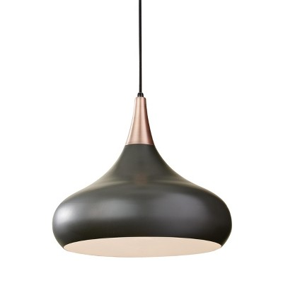 "Feiss Belle 1-Light 18"" Dark Bronze Teardrop Pendant F2706/1DBZ"