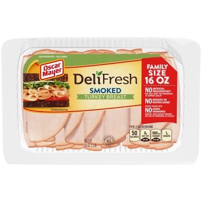 Oscar Mayer Deli Fresh Sliced Smoked Turkey Breast - 16oz