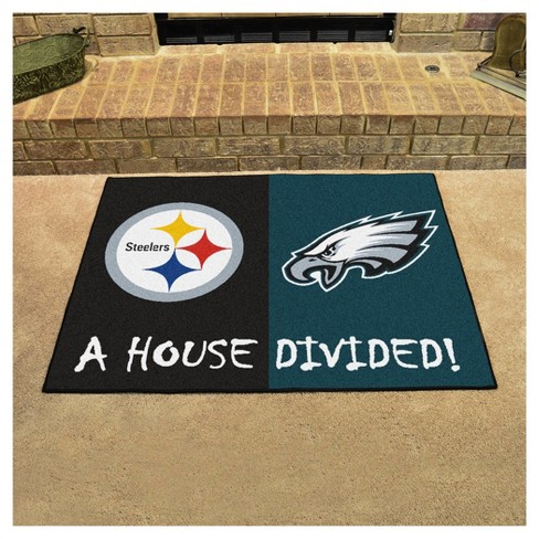 NFL Pittsburgh Steelers Philadelphia Eagles House Divided Rug 33.75