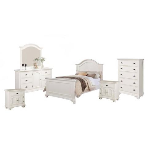 Addison Panel 6pc Bedroom Set White
