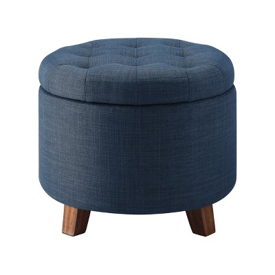Tufted Round Storage Ottoman - Threshold™