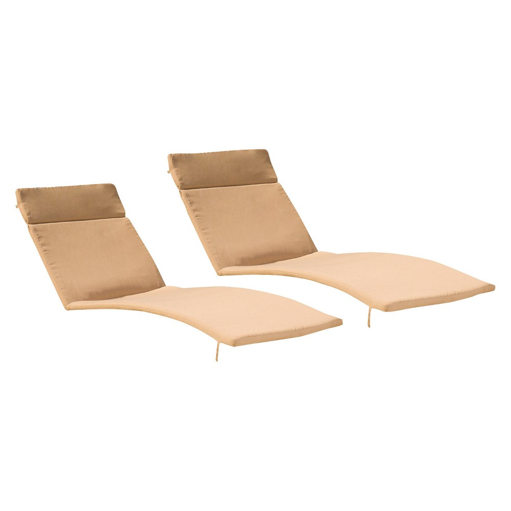 Salem Set of 2 Chaise Lounge Cushions - Caramel - Christopher Knight Home