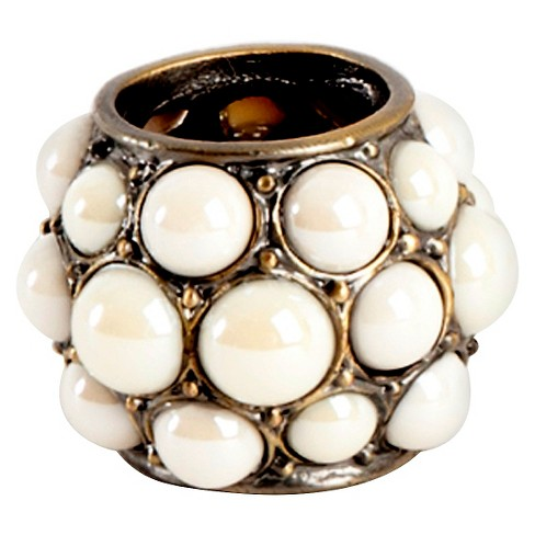 Pearl Design Napkins Rings - Ivory (Set of 4) - image 1 of 3