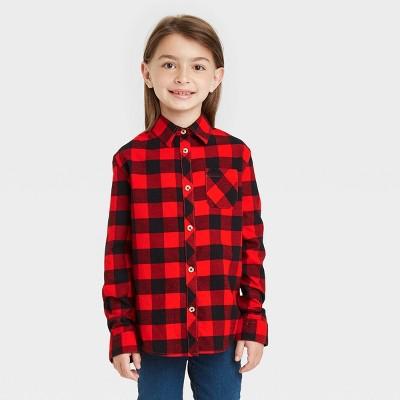 Girls' Woven Button-Down Shirt - Cat & Jack™