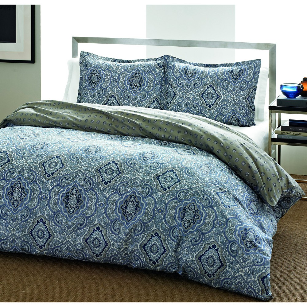 Image of Blue Milan Comforter Set (Full/Queen) - City Scene
