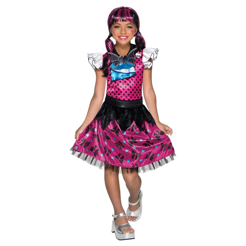 Girls Monster High Draculaura Costume Large, Multicolored