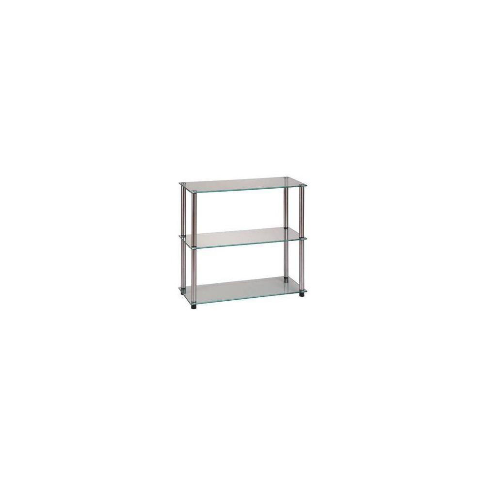 Image of Designs2Go Classic Glass 3 Shelf Bookcase Glass - Johar Furniture