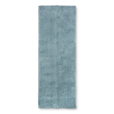 60 x22  Tufted Spa Bath Runner Aqua - Fieldcrest®