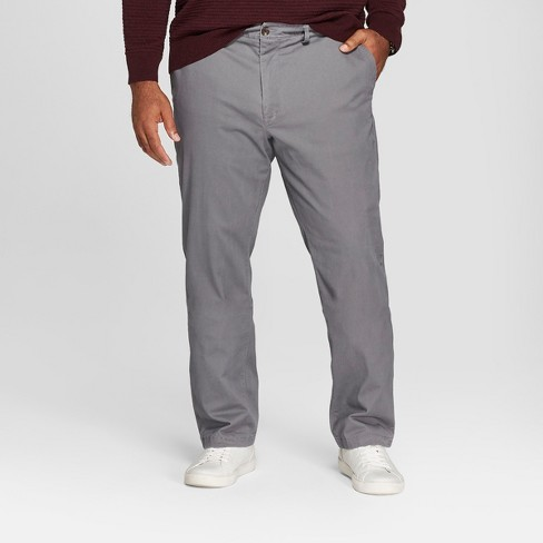 Men's Big & Tall Straight Fit Hennepin Chino Pants - Goodfellow & Co™ Dark Gray - image 1 of 4