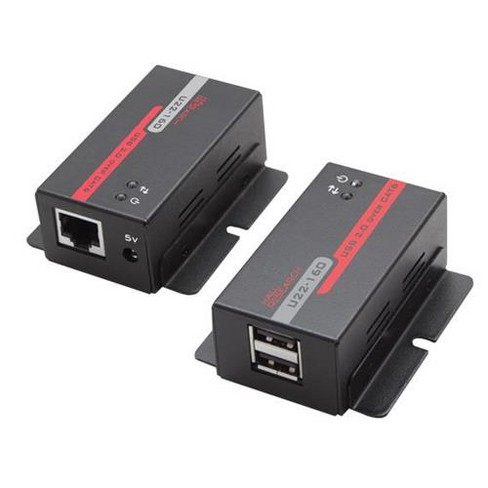Hall Research U22-160 USB 2.0 over UTP Extender with 2-Port Hub - image 1 of 1