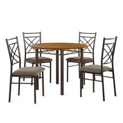 5pc Charli Dining Set Bronze - Dorel Living