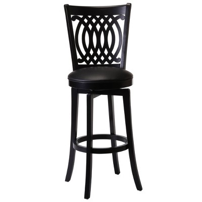 "30"" Van Draus Swivel Barstool Metal/Black - Hillsdale Furniture"